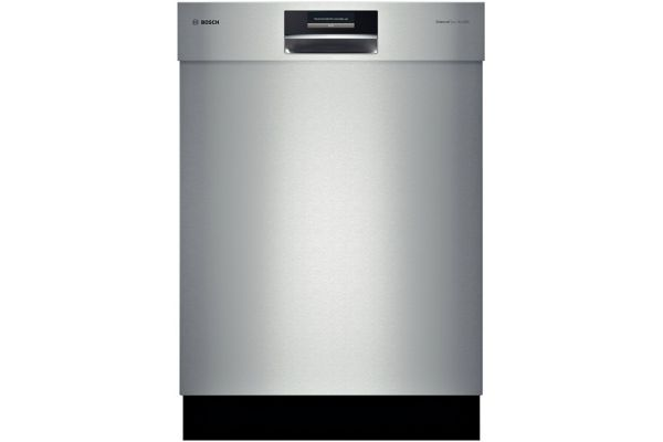 """Large image of Bosch 800 Plus Benchmark Series 24"""" Stainless Steel Built-In Dishwasher - SHE8PT55UC"""