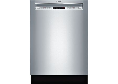 "Bosch 24"" 300 Series Recessed Handle Stainless Steel Built-In Dishwasher - SHEM63W55N"