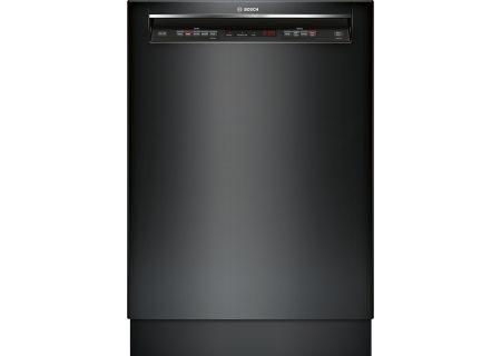 "Bosch 24"" 300 Series Recessed Handle Black Built-In Dishwasher - SHEM63W56N"