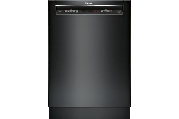 "Large image of Bosch 24"" 300 Series Recessed Handle Black Built-In Dishwasher - SHEM63W56N"