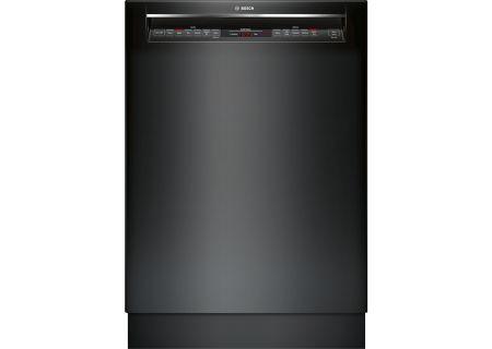 "Bosch 24"" 800 Series Recessed Handle Black Built-In Dishwasher - SHEM78W56N"