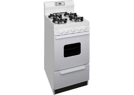 """Premier 20"""" White Freestanding Gas Range - SHK220OP"""