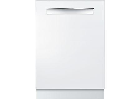 "Bosch 24"" 500 Series Pocket Handle White Built-In Dishwasher - SHPM65W52N"