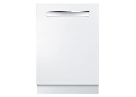 "Bosch 800 Series 24"" Pocket Handle Built-In White Dishwasher - SHPM78W52N"