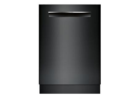"Bosch 800 Series 24"" Pocket Handle Built-In Black Dishwasher - SHPM78W56N"