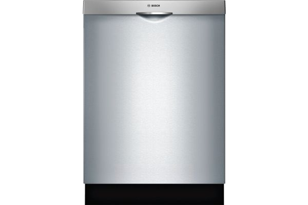 """Large image of Bosch 24"""" 300 Series Scoop Handle Stainless Steel Built-In Dishwasher - SHS863WD5N"""