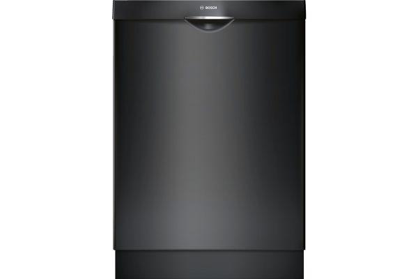 "Large image of Bosch 24"" 300 Series Scoop Handle Black Built-In Dishwasher - SHS863WD6N"