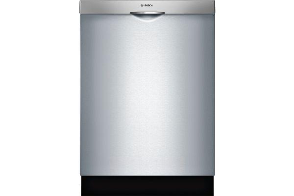 "Large image of Bosch 24"" 300 Series Scoop Handle Stainless Steel Built-In Dishwasher - SHSM63W55N"