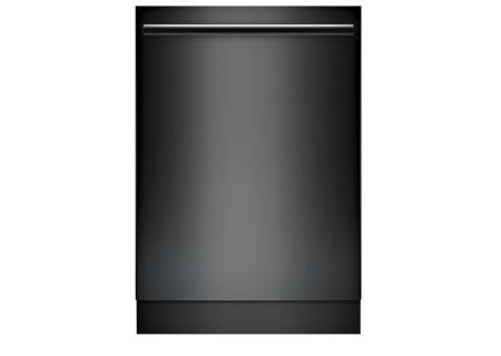 "Bosch 800 Series 24"" Black Built-In Bar Handle Dishwasher  - SHX878WD6N"