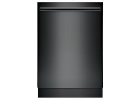 """Bosch 800 Series 24"""" Bar Handle Built-In Black Dishwasher - SHXM78W56N"""