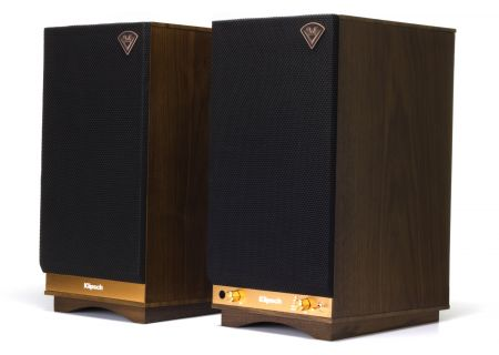 Klipsch The Sixes Powered Walnut Speakers - 1063287