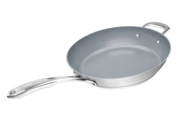 """Large image of Chantal Induction 21 Steel 11"""" Fry Pan With Ceramic Coating - SLIN63-28C"""
