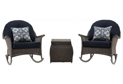 Hanover - SMAR-3PC-NVY - Patio Seating Sets