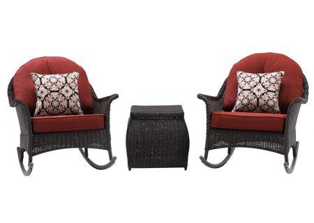 Hanover San Marino Crimson Red 3-Piece Seating Patio Set - SMAR-3PC-RED