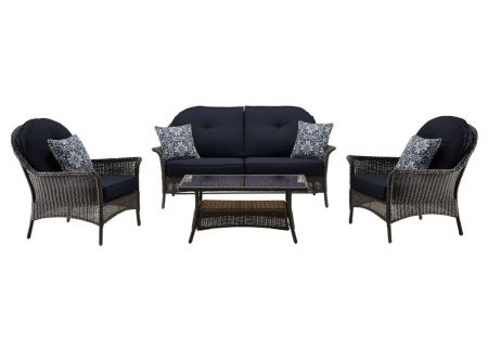 Hanover - SMAR-4PC-NVY - Patio Seating Sets