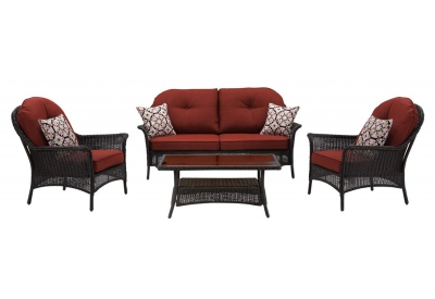 Hanover - SMAR-4PC-RED - Patio Furniture