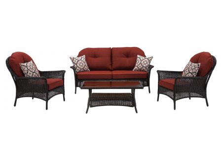 Hanover - SMAR-4PC-RED - Patio Seating Sets