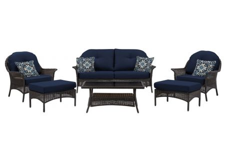 Hanover - SMAR-6PC-NVY - Patio Seating Sets