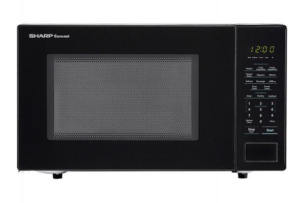 Large image of Sharp Black Countertop Microwave - SMC1131CB