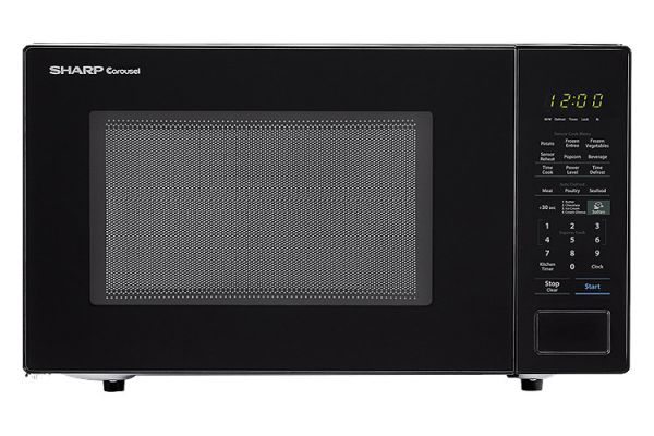 Large image of Sharp Black Countertop Microwave - SMC1441CB