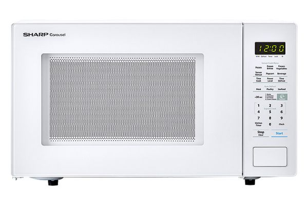 Large image of Sharp White Countertop Microwave - SMC1441CW