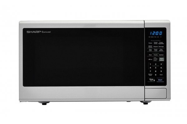 Large image of Sharp Stainless Steel Countertop Microwave - SMC1443CM