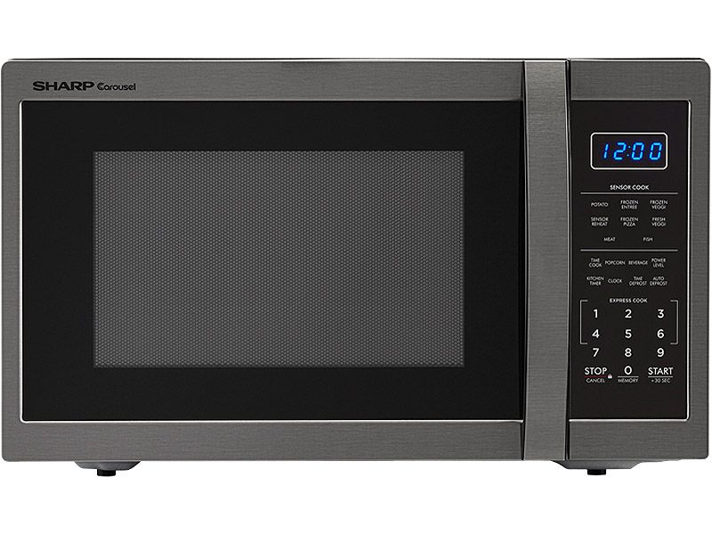 Sharp Black Stainless Steel Countertop Microwave Smc1452ch