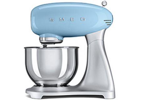 Smeg 50s Style Pastel Blue Stand Mixer - SMF01PBUS