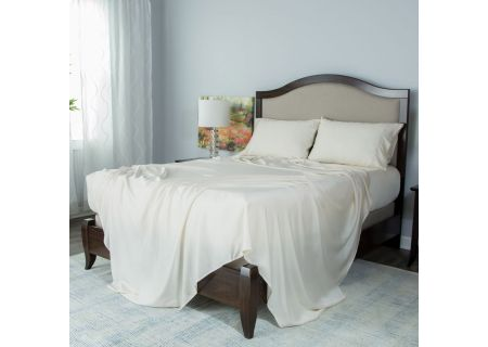 Protect-A-Bed Cream Twin Essentials Tencel Lyocell Deep Pocket Sheet Set - SNT0111-02