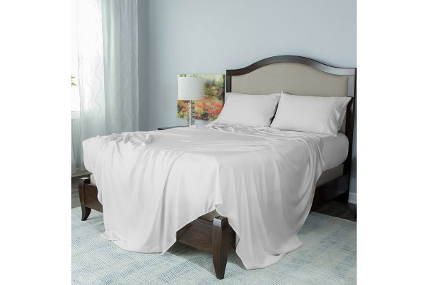 Large image of Protect-A-Bed White Queen Essentials Tencel Lyocell Deep Pocket Sheet Set - SNT0135-01