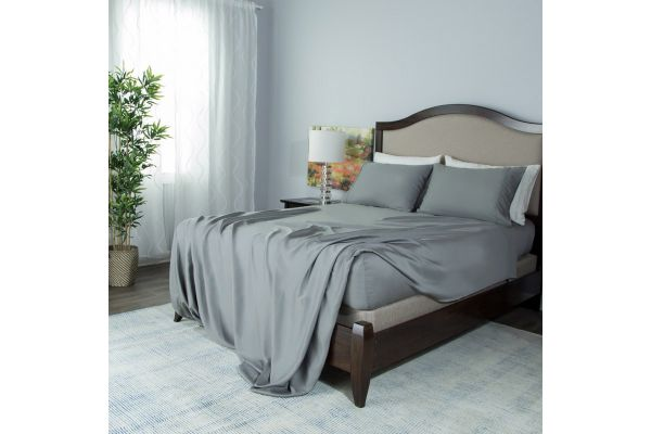 Large image of Protect-A-Bed Grey Queen Essentials Tencel Lyocell Deep Pocket Sheet Set - SNT0135-03