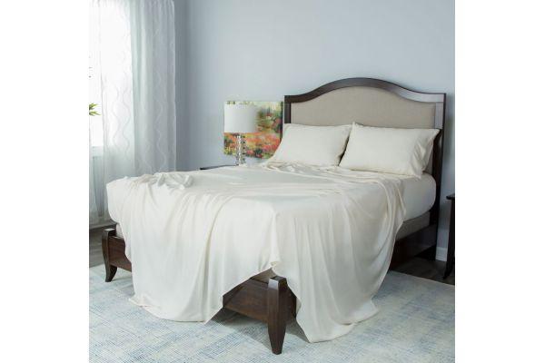 Large image of Protect-A-Bed Cream Split King Essentials Tencel Lyocell Deep Pocket Sheet Set - SNT0142S-02