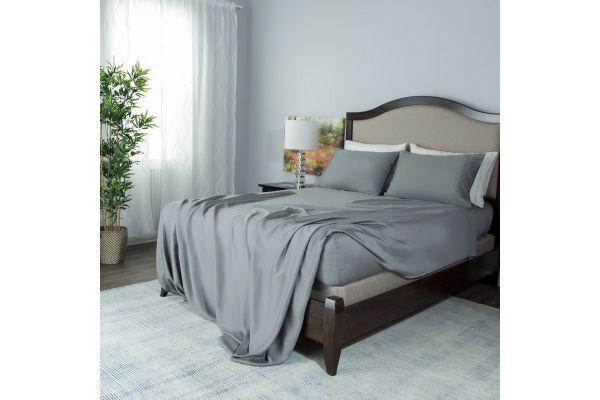 Large image of Protect-A-Bed Grey Split King Essentials Tencel Lyocell Deep Pocket Sheet Set - SNT0142S-03