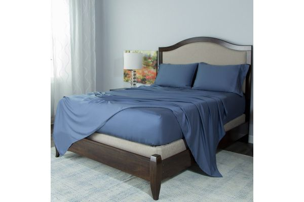 Large image of Protect-A-Bed Blue Split  King Essentials Tencel Lyocell Deep Pocket Sheet Set - SNT0142S-04