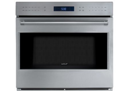 """Wolf E Series 30"""" Stainless Steel Built In Single Oven - SO30PESPH"""
