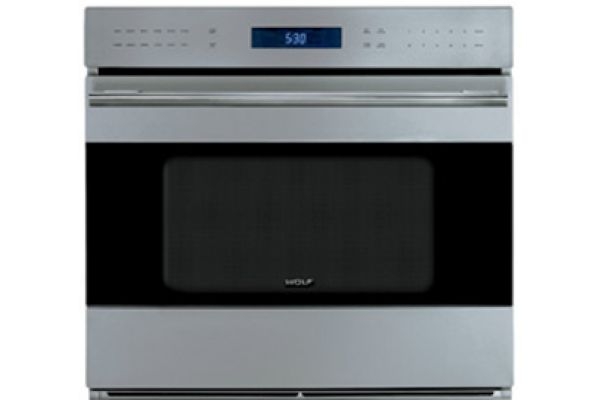 "Large image of Wolf E Series 30"" Stainless Steel Built In Single Oven - SO30TE/S/TH"