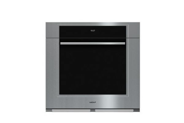 """Large image of Wolf 30"""" M Series Transitional Built In Stainless Steel Single Oven  - SO30TM/S/TH"""
