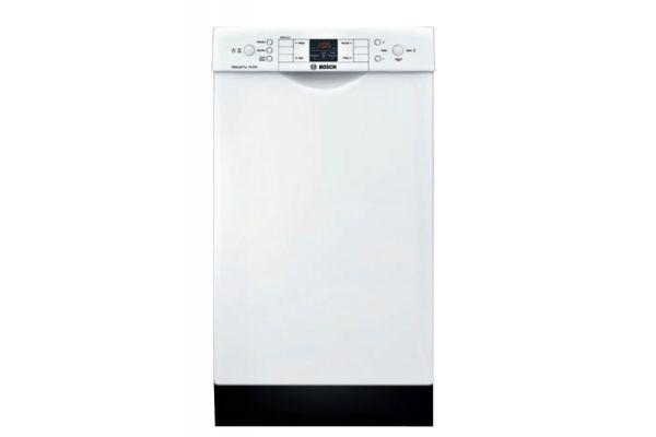 "Large image of Bosch ADA 18"" 300 Series White Built-In Dishwasher - SPE53U52UC"