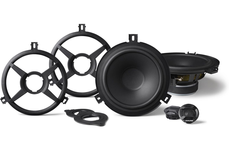 Alpine 65 Component 2 Way Speakers Spv 65x Wra Jeep Wrangler Jk Tweeter For 2015 2018