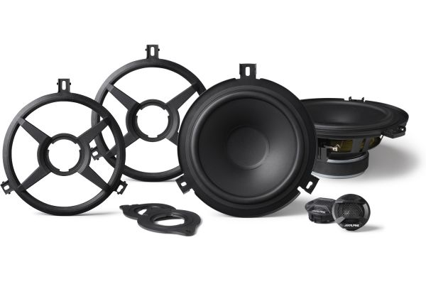 """Large image of Alpine 6.5"""" Component 2-Way Speakers For Jeep Wrangler 2015-2018 (Pair) - SPV-65X-WRA"""