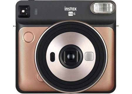 Fujifilm Instax Square SQ6 Blush Gold Instant Film Camera - 16581460 & PRO1844