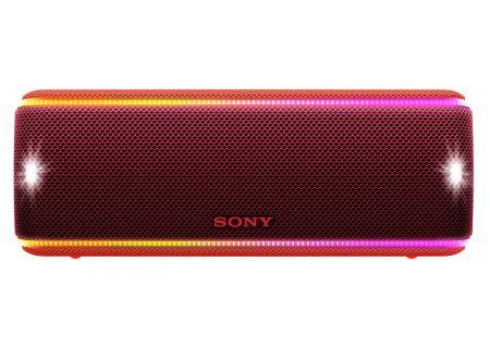 Sony Red Portable Wireless Bluetooth Speaker - SRSXB31/R