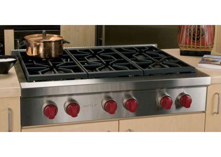 "Wolf 36"" Stainless Steel Sealed Burner Gas Rangetop - SRT366"