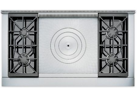 "Wolf 48"" Sealed Burner Gas Rangetop With French Top - SRT484F"