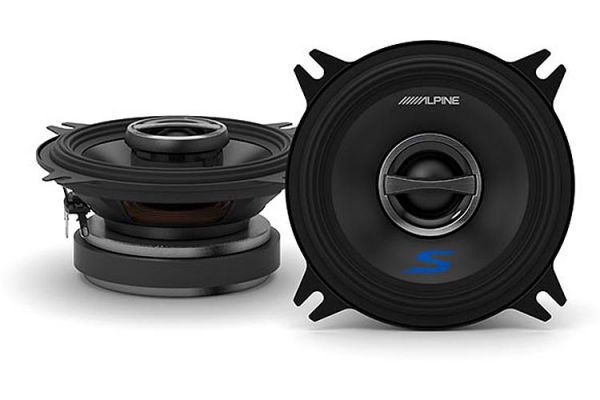 """Large image of Alpine S-Series 4"""" Coaxial 2-Way Speakers (Pair) - S-S40"""