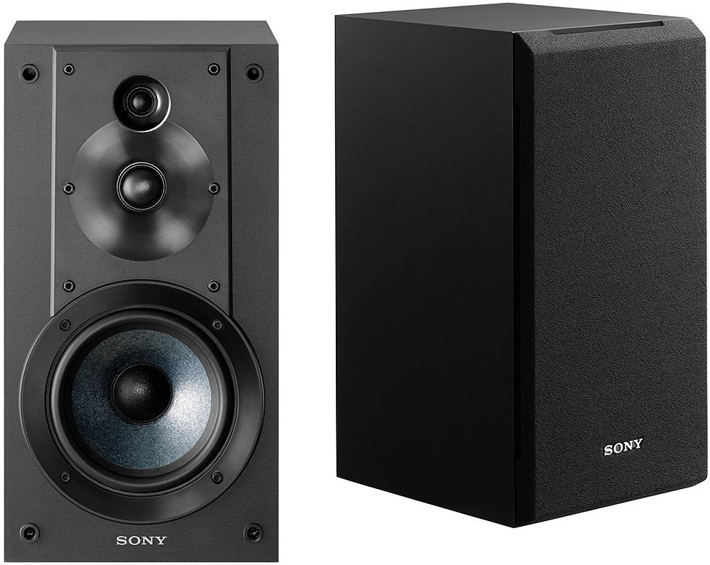 Sony Black 3-Way Bookshelf Speakers