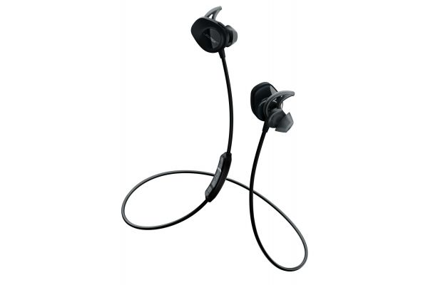 Large image of Bose Black SoundSport Wireless In-Ear Headphones - 761529-0010