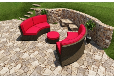 Parrot Island - STM-3SEC-EB-FB - Patio Seating Sets