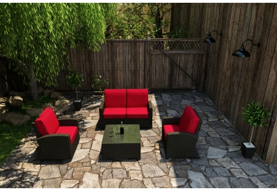 Parrot Island - STM-4SS-EB-FB - Patio Seating Sets