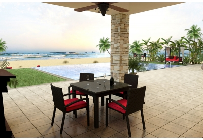 Parrot Island - STM-5SQDN-EB-FB - Patio Dining Sets